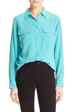EQUIPMENT 'Slim Signature' Silk Shirt. #equipment #cloth #