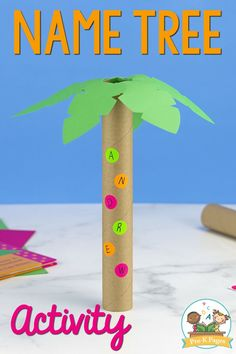 Name Recognition Activity Letter Tree. This hands-on letter tree name recognition activity is super fun and it's also quick and easy to make. Your kids will have a blast adding the letters of their name to their very own letter tree! Letter S Activities, Name Activities Preschool, Pre K Activities, Preschool Letters, Preschool Lessons, Literacy Activities, Alphabet Letters, Preschool Classroom, Classroom Ideas
