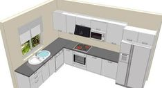 L Shaped Kitchen inspiration for your beloved home. L Shaped Kitchen with Island, and much more in this article to make your home beauty L Shape Kitchen Layout, Kitchen Layout Plans, Kitchen Room Design, Kitchen Cabinet Design, Modern Kitchen Design, Home Decor Kitchen, Interior Design Kitchen, New Kitchen, Küchen Design