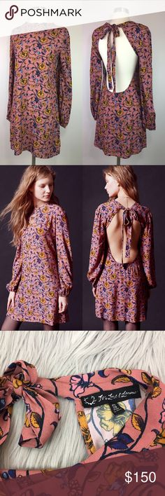 NEW For Love & Lemons Pink Floral Open Back Dress Brand new never worn. Tag marked to prevent in store returns For Love And Lemons Dresses Mini