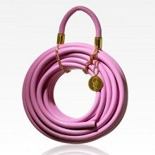 GARDEN GLORY Garden Hose Pink --- The Garden Glory  hose is made in Scandinavia. The quality is of highest standard, with knitting-reinforcement around the inner tube, compared to cheaper cross-reinforcement, which allows the tubing to be pliable and flexible. The surface is dirt-repellent and UV-protected. Length 20 meters.5 year warranty.  Can be combined with any Garden Glory nozzle and wall mount. Nozzle and wall mount are sold separately.