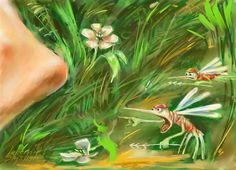 Beware of mosquitoes. Corel painter.
