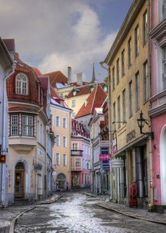 Dream Street - Pikk Street is the longest and one of the most beautiful street of Tallinn, Estonia