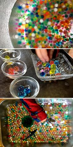 Sensory Activities: Try out these amazing water bead activities for sensory play! Over 8 ways to use water beads for learning and exploring!
