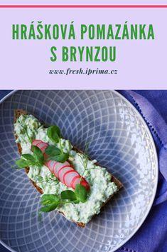 #pomazanka #hrasek #brynza #recept #primafresh Avocado Toast, Breakfast, Morning Breakfast