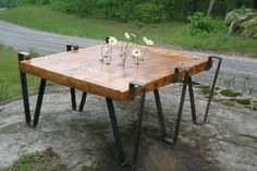reclaimed barn wood table from TN