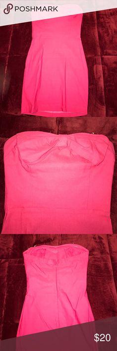 Hot pink mini dress Beautiful color, body con mini dress Charlotte Russe Dresses Mini