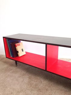 Mid Century Modern Record Cabinet Media Table  TV Stand Entertainment Cabinet, simple i need to build this