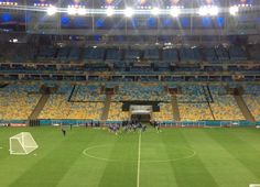 Maracanã na expectativa para o primeiro jogo. #luiz #viniciusrojo