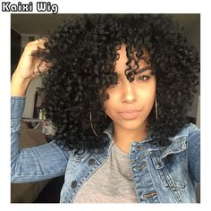 """Cheap wig comb, Buy Quality wig brands directly from China wig holder Suppliers: 18"""" Afro Kinky Curly Wigs Short Synthetic Wigs For Black Women African American Short Wigs Cheap Wigs For Women Perruque Perucas"""
