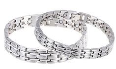 Chariot Trading - Stainless Steel Mens Bracelets Bangles. Item Type : Bracelets. Bracelets Type : Chain & Link Bracelets. Metals Type : Stainless Steel. Style : Trendy. Length : 22cm.