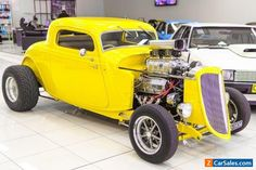 1934 Ford Hot Rod . Yellow Automatic A #ford #hotrod #forsale #australia