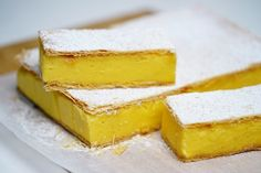 RECIPES with leftover egg yolks, turn them into these delicious desserts, sauces and sides. Peppermint Slice, Jelly Slice, Delicious Desserts, Dessert Recipes, Lemon Desserts, Dessert Bars, Yummy Food, Cheesecake Toppings, Cheesecake Recipes