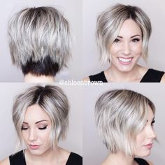 Edgy Chopped Black And Blonde Bob