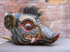 Boar Barong mask.