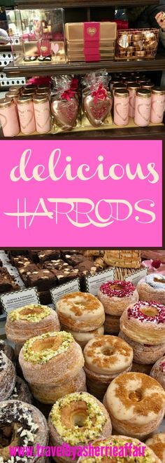 There is amazing food to be discovered at Harrods in London.  Explore a day in Harrods during Valentines week for delicious cuisine!