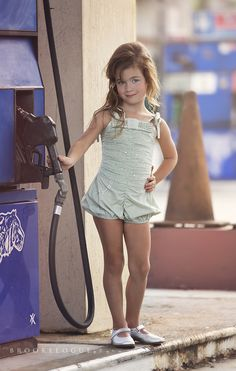 Elise At the Gas Station » Brooke Logue Photography
