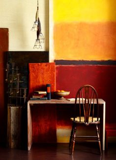 saturated color interiors vignette- workspace. :))