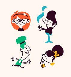 Jelle Gijsberts - Rocker illustrations