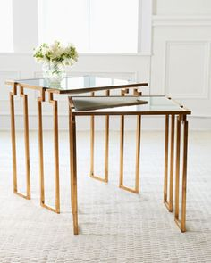 """$699 """"Stella"""" Nesting Tables at Horchow."""