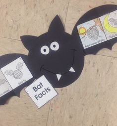 Get bat basics and an adorable booklet project. You can make a standard booklet or a bat-shaped booklet with foldable wings. All pattern included and its free from TheMailbox. Fall Preschool, Kindergarten Activities, Preschool Activities, Bat Activities For Kids, Halloween Activities, Halloween Crafts, Preschool Halloween, Holiday Crafts, Bat Facts
