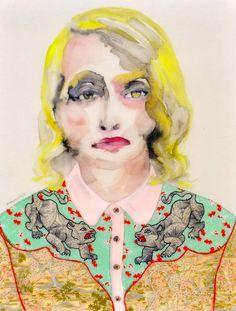 Lisa Krannichfeld - Shirt with Tigers. Watercolor, 18x24