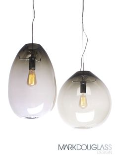 Float is a handblown pendant light in round or teardrop styled glass with a pronounced colour transition from top to bottom. Can be blown with or without rolled opening.