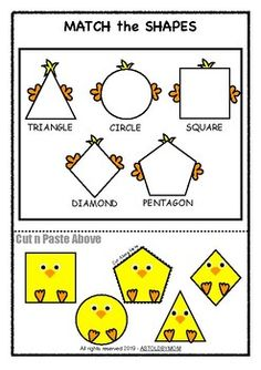 Chick Shapes Sorting Activity by AsToldByMom Easter Activities For Toddlers, Preschool Learning Activities, Sorting Activities, Preschool Worksheets, Book Activities, Toddler Learning Games, 2d Shapes Activities, File Folder Activities, Shape Puzzles