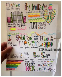 Here is my lyric art for Best Song Ever!! Requested by @Jenna Malik  and @Emily Uhlarik  :) hope you like it!! ❤xx