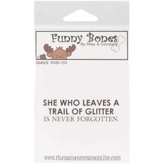 Riley-amp-Company-Funny-Bones-Cling-Stamp-2-034-X1-25-034-Trail-Of-Glitter-051907170013