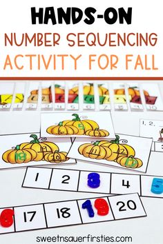 Are you looking for an easy low prep Fall activity? This just print and go resource is a fun way to learn number sequencing! This pack includes multiple different hands-on activities including numbers 0-10 and 10-20 depending on your students' needs! It is the perfect addition to your other fall centers! You can use this number sequencing activity for math centers, guided math, or math workshop. It is also a great math activity for morning work or for an early finishers activity.
