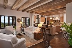 This great room in a Santa Barbara home makes me feel comforted.
