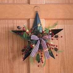 Lighted Christmas Barn Star - TerrysVillage.com