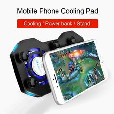 COOlCOLD G1 Gamepad Cooler Radiator Fan, Battle Royale Game, Radiators, Brand Names, Games, Phone, Color Red, Number