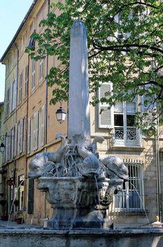 Fountains of Aix en Provence, France Aix En Provence, Provence France, Great Places, Beautiful Places, Places To Visit, Saint Tropez, Montpellier, South Of France, French Riviera