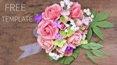 This is a free template and step-by-step tutorial to make the best paper rose ever. Anyone who receives this DIY gift will be impressed with your care.