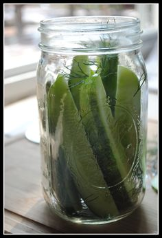 Easy Garlic Dill Pickles,  the best I've found they stay crunchy!