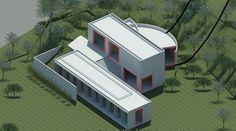 Revit Architecture, Architecture Visualization, Koshino House, Water Temple, Hyogo, Tadao Ando, Villa, Small Homes, House Styles
