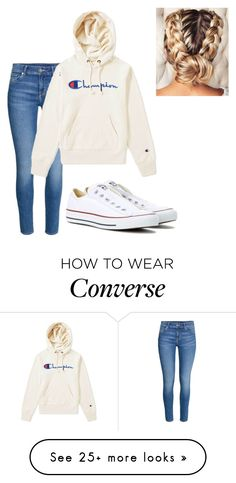 """Untitled #17"" by my-outfit-inspiration on Polyvore featuring H&M, Champion and Converse"