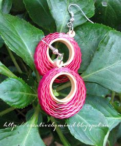 Crimped Circles Quill Earring by Creativebymind