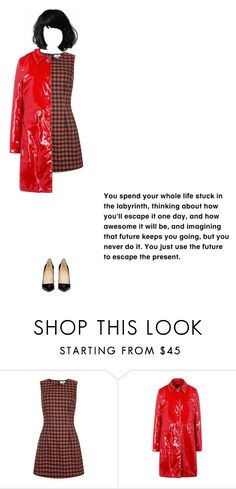 """Rainy Fall Day"" by cinderella-in-black ❤ liked on Polyvore featuring Christian Louboutin and Sissa"