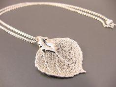 Sterling Silver Aspen Leaf Necklace by ljjwls on Etsy, $30.00