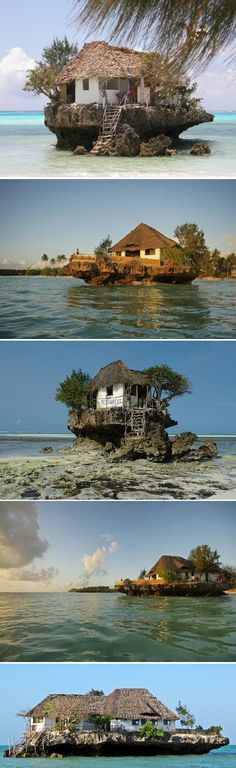 The rock restaurant in Zanzibar -sounds like a good idea today...