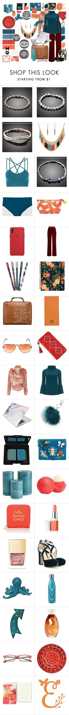 """Kezaccessories Exclusive Accessories"" by kayce35 ❤ liked on Polyvore featuring Sweaty Betty, La Senza, Disaster Designs, Racil, Vera Bradley, Tory Burch, Ray-Ban, Fleur du Mal, Manon Baptiste and Recover"