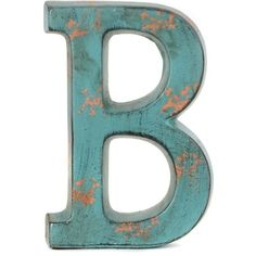 Teal Ceramic Monogram B Statue (620 RUB) ❤ liked on Polyvore featuring home, home decor, teal home decor, personalized home decor, teal home accessories, teal blue home decor and ceramic home decor
