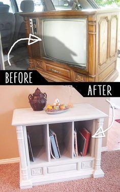 DIY Furniture Hacks |  Trash to Treasure Curb Side TV Transformation  | Cool Ideas for Creative Do It Yourself Furniture | Cheap Home Decor Ideas for Bedroom, Bathroom, Living Room, Kitchen - http://diyjoy.com/diy-furniture-hacks