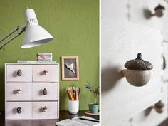 DIY Anleitung: Möbelknäufe aus Naturmaterialien herstellen // diy tutorial: furniture knobs made out of natural materials vis DaWanda.com