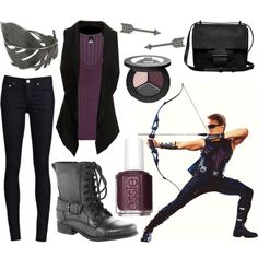 A whole list of Marvel Comics inspired outfits!! Lots from Avengers.  I LOVE the Black Widow and Hawkeye outfits!