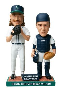 2012 #Mariners Hall of Fame, Randy Johnson and Dan Wilson, Dual Bobblehead Day. First 20,000 fans, presented by ROOT Sports. July 28, 2012, 1:10 #Mariners vs. #Royals