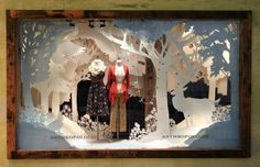 anthropologie holiday 2012 paper cut windows